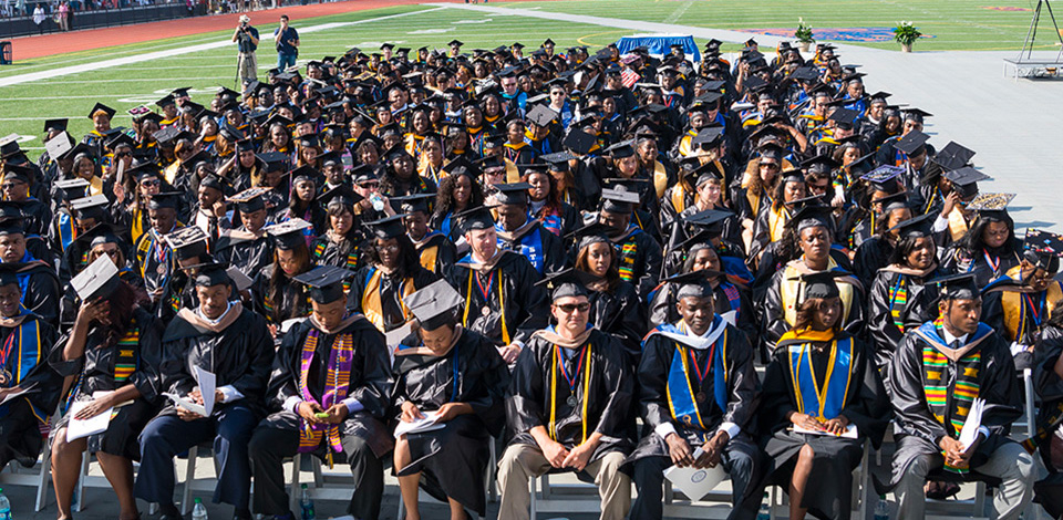 Savannah State University's 184th Commencement ceremony held on May 10, 2014 at T. A. Wright Stadium.